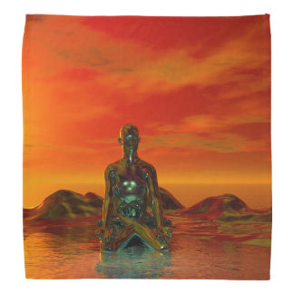 buddha orange and sea bandana