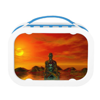 buddha orange and sea lunchboxes