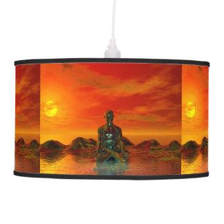 buddha orange and sea pendant lamp