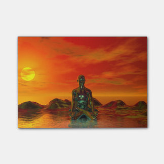 buddha orange and sea post-it® notes