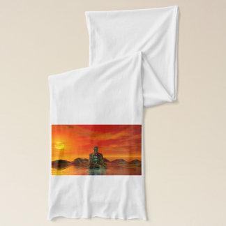 buddha orange and sea scarf