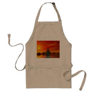 buddha orange and sea standard apron