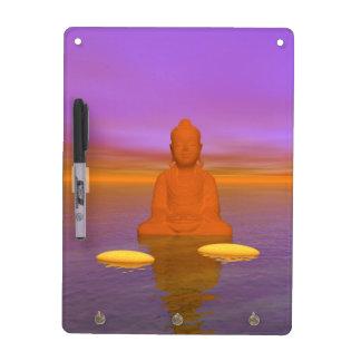 buddha orange and steps yellow dry erase board
