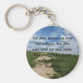 Buddha Path Quote Basic Round Button Keychain