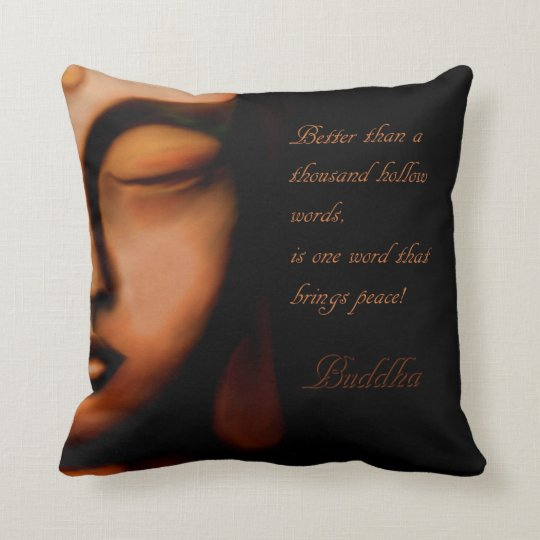 Buddha-peace Throw Pillow