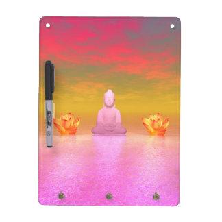 buddha pink and water lily orange dry erase board