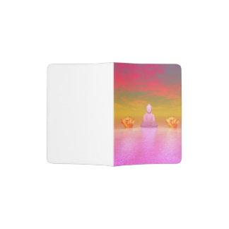 buddha pink and water lily orange passport holder