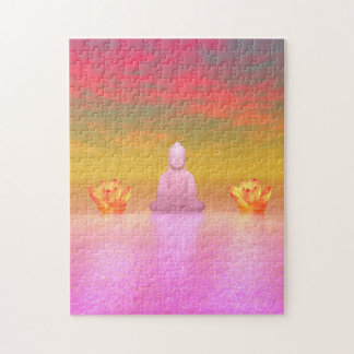 buddha pink and water lily orange puzzles