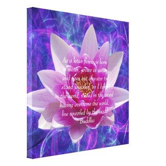 Buddha pink Lotus flower Canvas Print