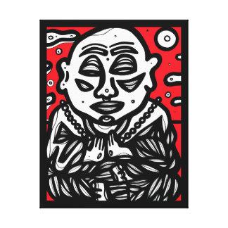 """Buddha Pray"" 22"" X 28"" Canvas Print"