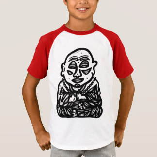 """Buddha Pray"" Boys' Raglan T-Shirt"