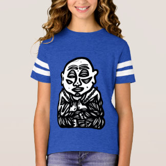 """Buddha Pray"" Girls' Sports Shirt"