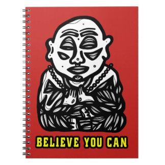 """Buddha Pray"" Spiral Notebook"
