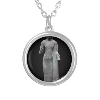 Buddha Preaching Silver Plated Necklace