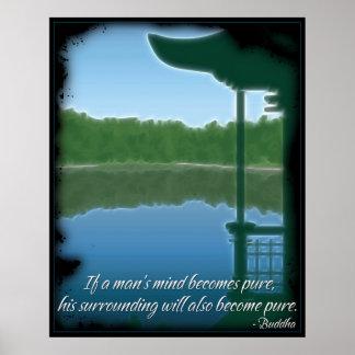 Buddha Pure Quote Poster