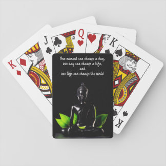 Buddha Quote 2 playing cards