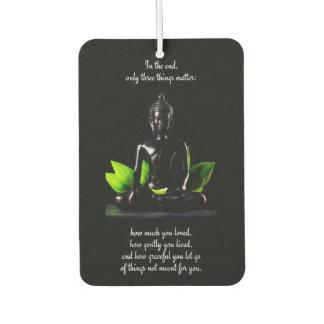 Buddha Quote 3 air freshner Air Freshener