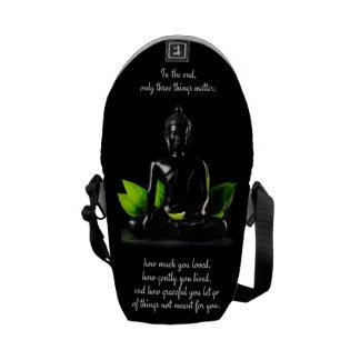 Buddha Quote 3 messenger bag