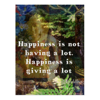 BUDDHA quote about happiness Postcard