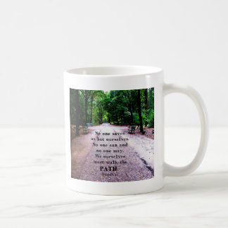 Buddha QUOTE about personal salvation and choices Coffee Mug