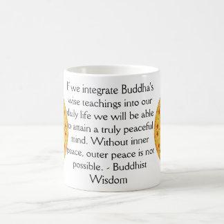 Buddha quote inspirational yoga meditation art coffee mug
