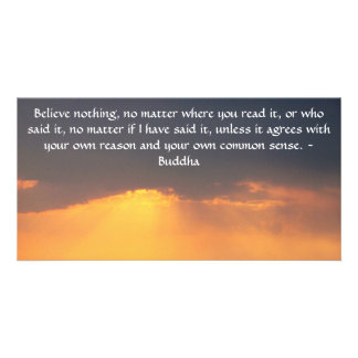 Buddha quote inspire motivational customized photo card