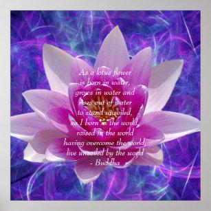 Buddha lotus flower posters prints poster printing zazzle ca buddha quote lotus flower poster mightylinksfo