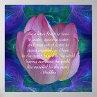 Buddha quote Lotus flower Poster