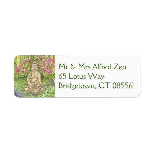Buddha return address label