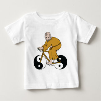 Buddha Riding A Bike With Yin Yang Wheels Baby T-Shirt