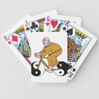 Buddha Riding A Bike With Yin Yang Wheels Bicycle Playing Cards