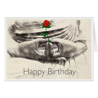 Buddha Rose Birthday Card