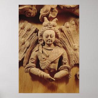 Buddha Sakyamuni, from Tumshuq  6th-7th century Poster