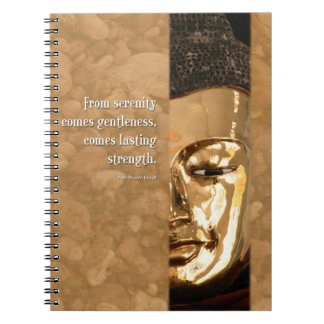 Buddha Serenity Gentleness Strength Journal Spiral Note Book