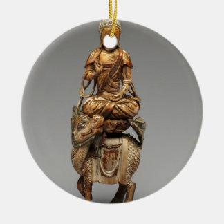 Buddha Shakyamuni with attendant bodhisattvas Ceramic Ornament