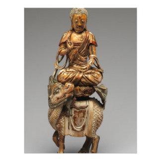 Buddha Shakyamuni with attendant bodhisattvas Letterhead