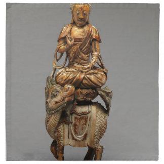 Buddha Shakyamuni with attendant bodhisattvas Napkin