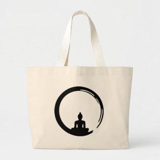 Buddha silent large tote bag
