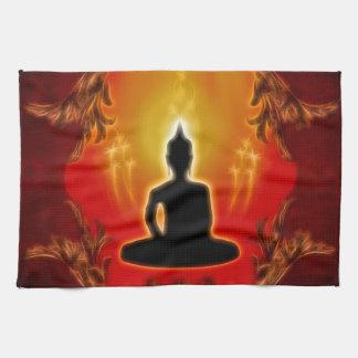 Buddha silhouette kitchen towel