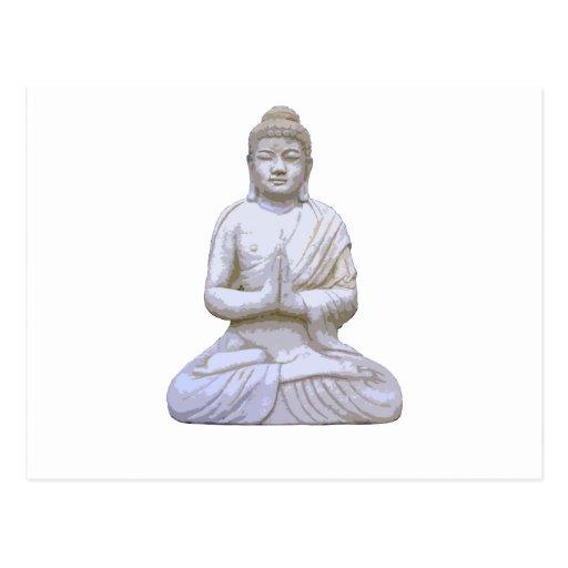 Buddha Sitting ~ Buddhist Buddhism Postcard