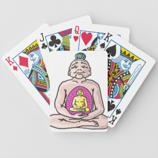 Buddha Sketch Vector Bicycle Playing Cards