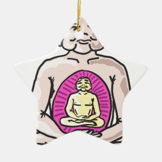 Buddha Sketch Vector Ceramic Star Ornament