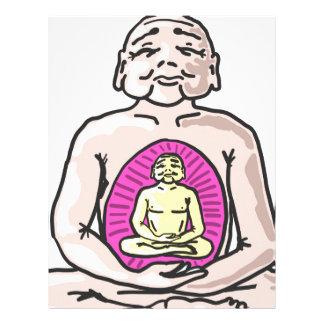Buddha Sketch Vector Letterhead