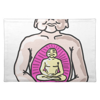 Buddha Sketch Vector Placemat