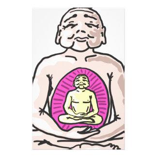 Buddha Sketch Vector Stationery