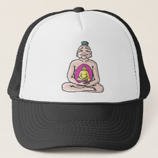 Buddha Sketch Vector Trucker Hat