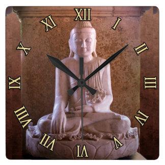 Buddha Square Wall Clock
