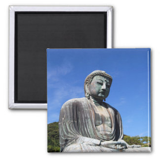 Buddha Statue in Kamakura, Japan Square Magnet
