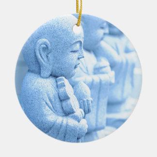 Buddha statue in Tokyo, Japan Round Ceramic Ornament