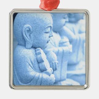 Buddha statue in Tokyo, Japan Silver-Colored Square Ornament